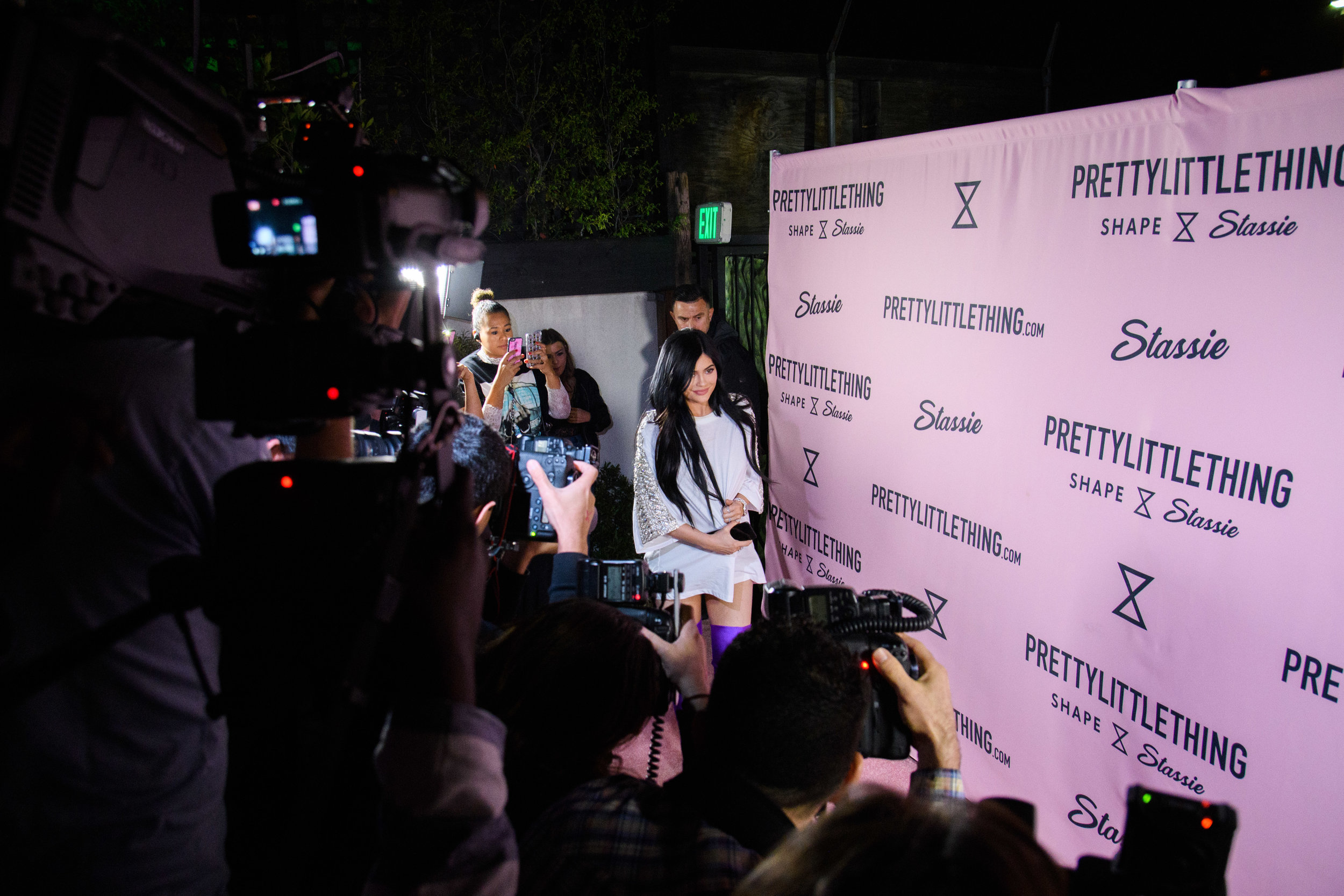 PrettyLittleThing New PLT Shape Collection with Stassie Celebrity Launch Party Kylie Jenner arriving at the party.jpg
