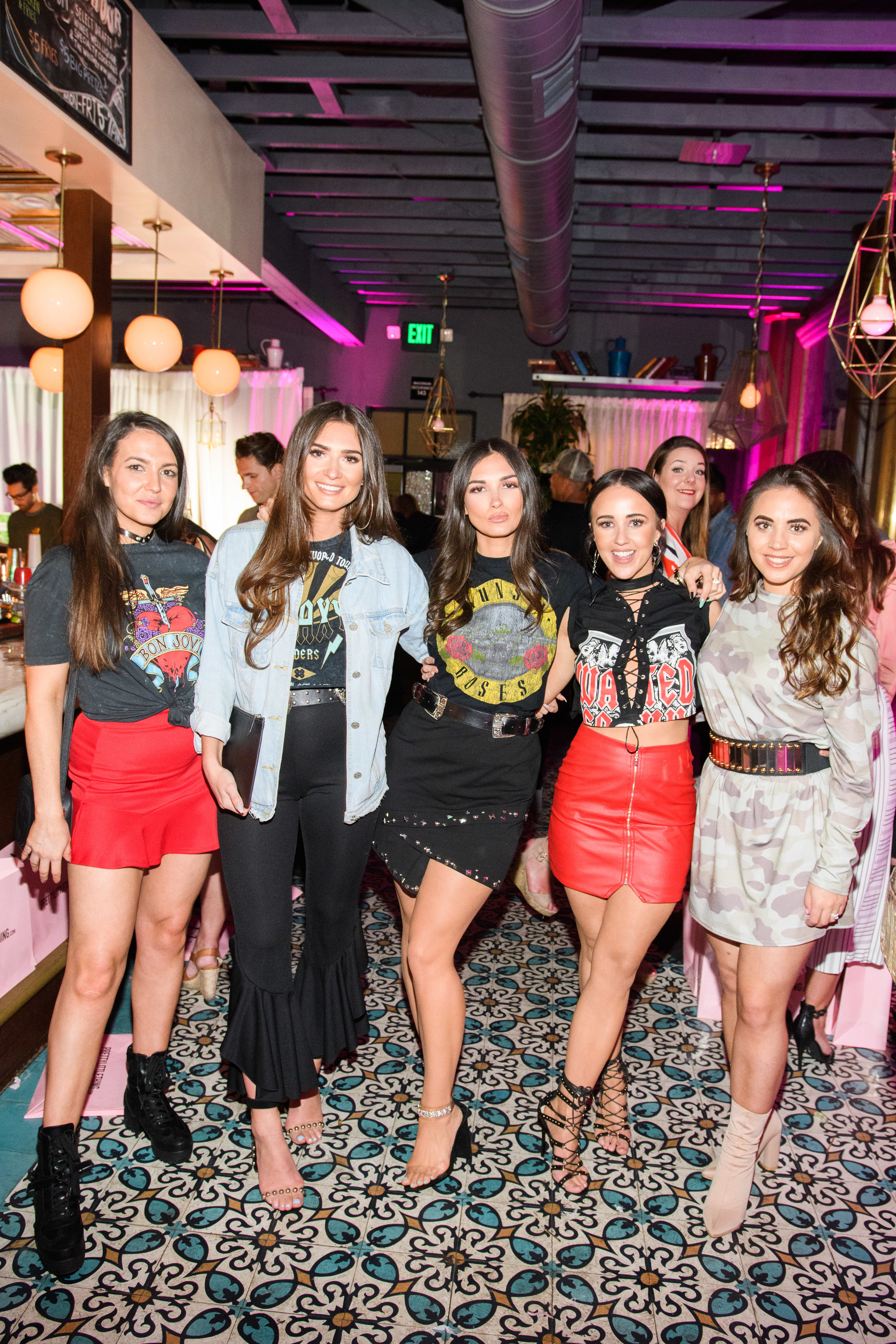 PrettyLittleThing New PLT Shape Collection with Stassie Celebrity Launch Party beauties pose together at the party.jpg