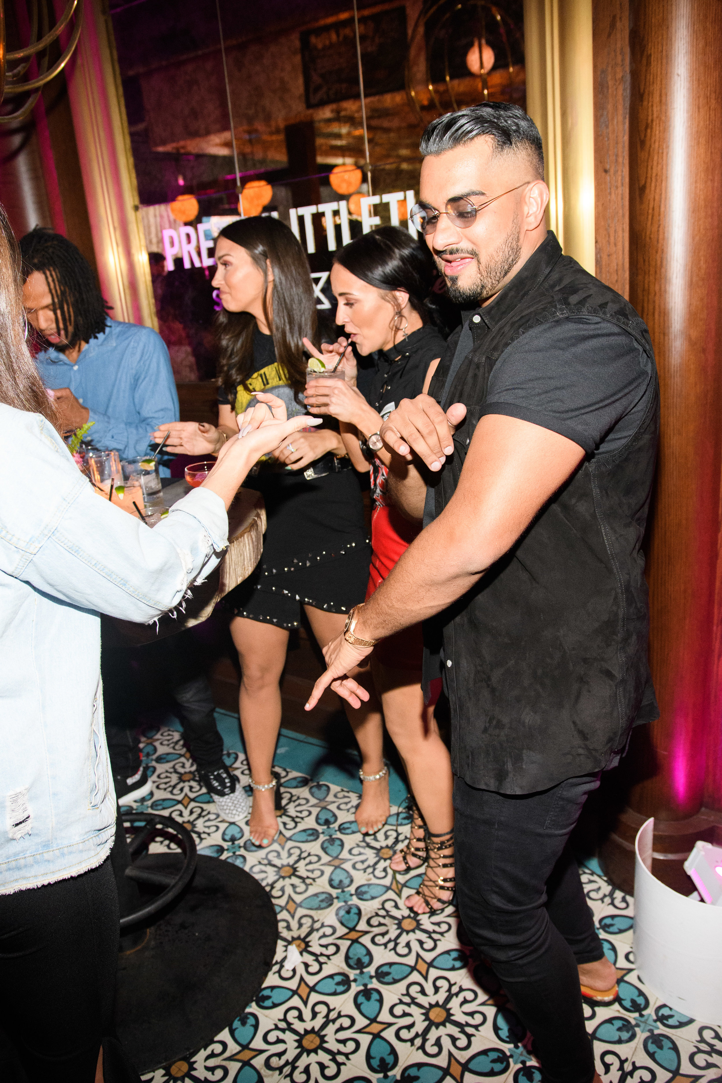 PrettyLittleThing New PLT Shape Collection with Stassie Celebrity Launch Party Umar parties with guests.jpg