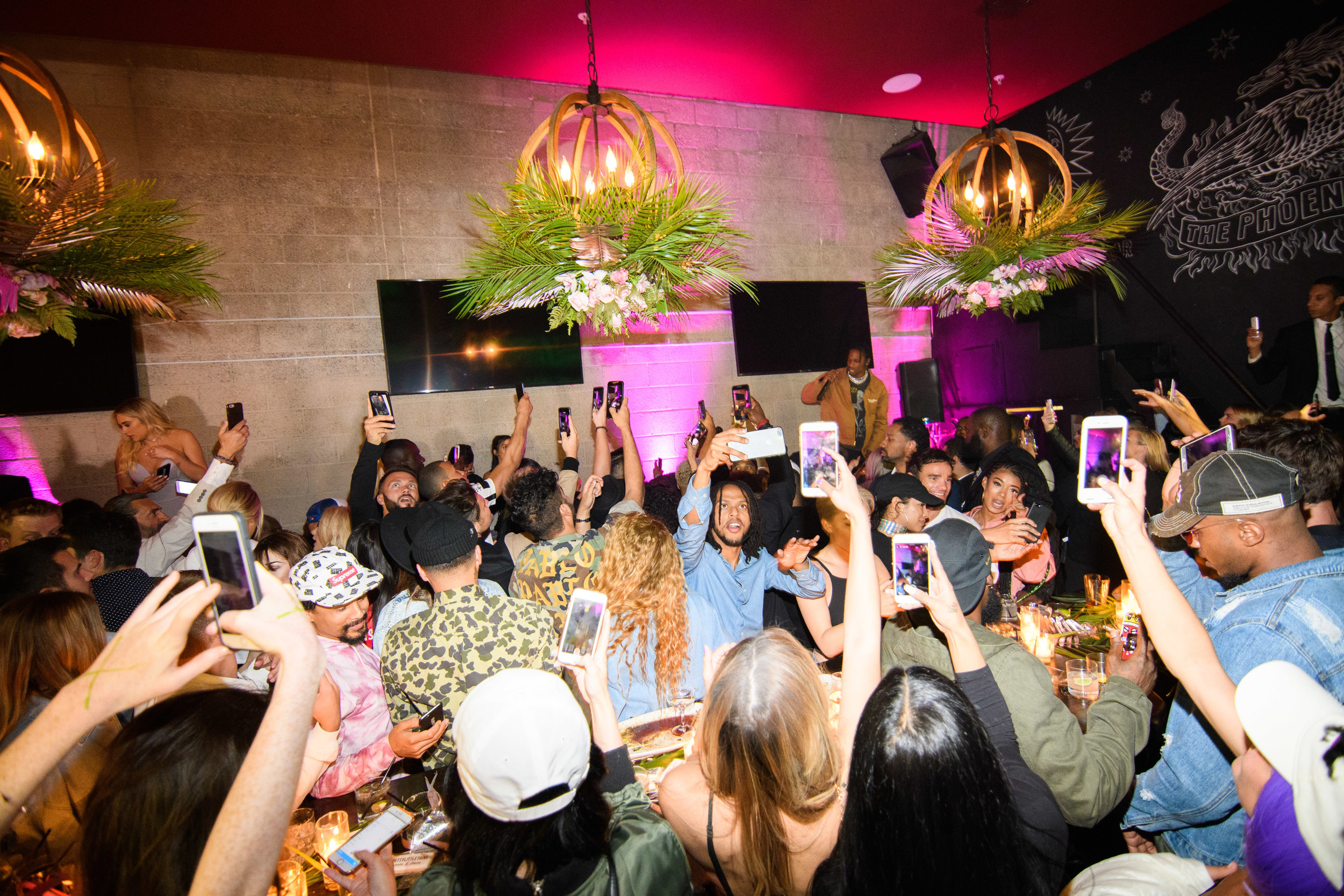 PrettyLittleThing New PLT Shape Collection with Stassie Celebrity Launch Party the crowd goes wild taking pictures watching Travis Scott.jpg