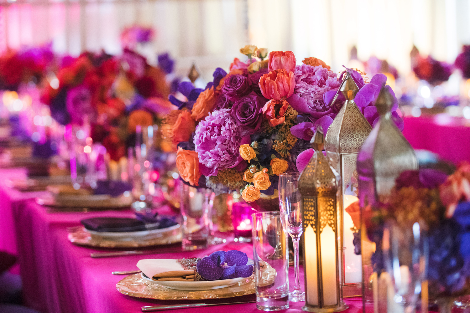 Moroccan Inspired Baby Shower Party bright colorful florals filled the tables.jpg