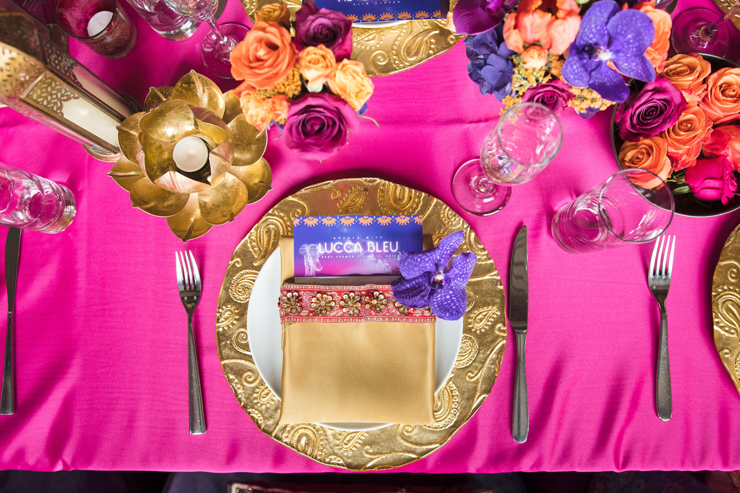 Moroccan Inspired Baby Shower Party custom napkins were at eat place setting.jpg