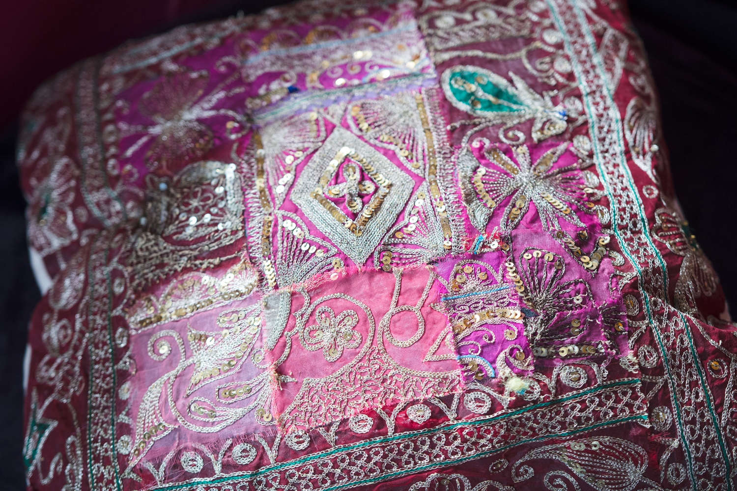 Moroccan Inspired Baby Shower Party pink silk pillow.jpg