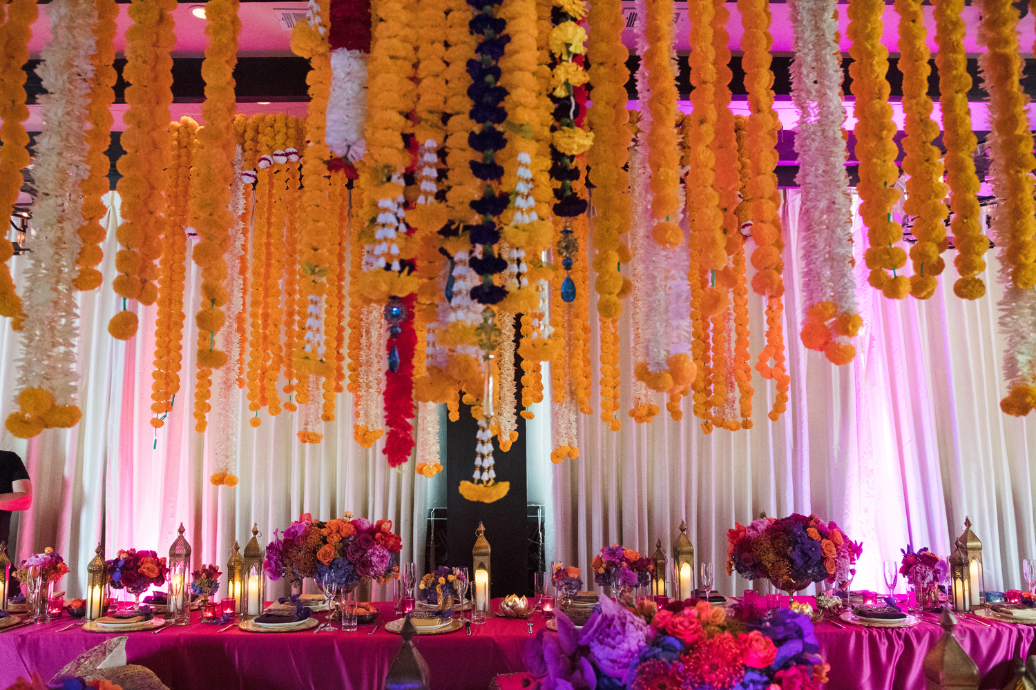 Moroccan Inspired Baby Shower Party stunning hanging florals.jpg