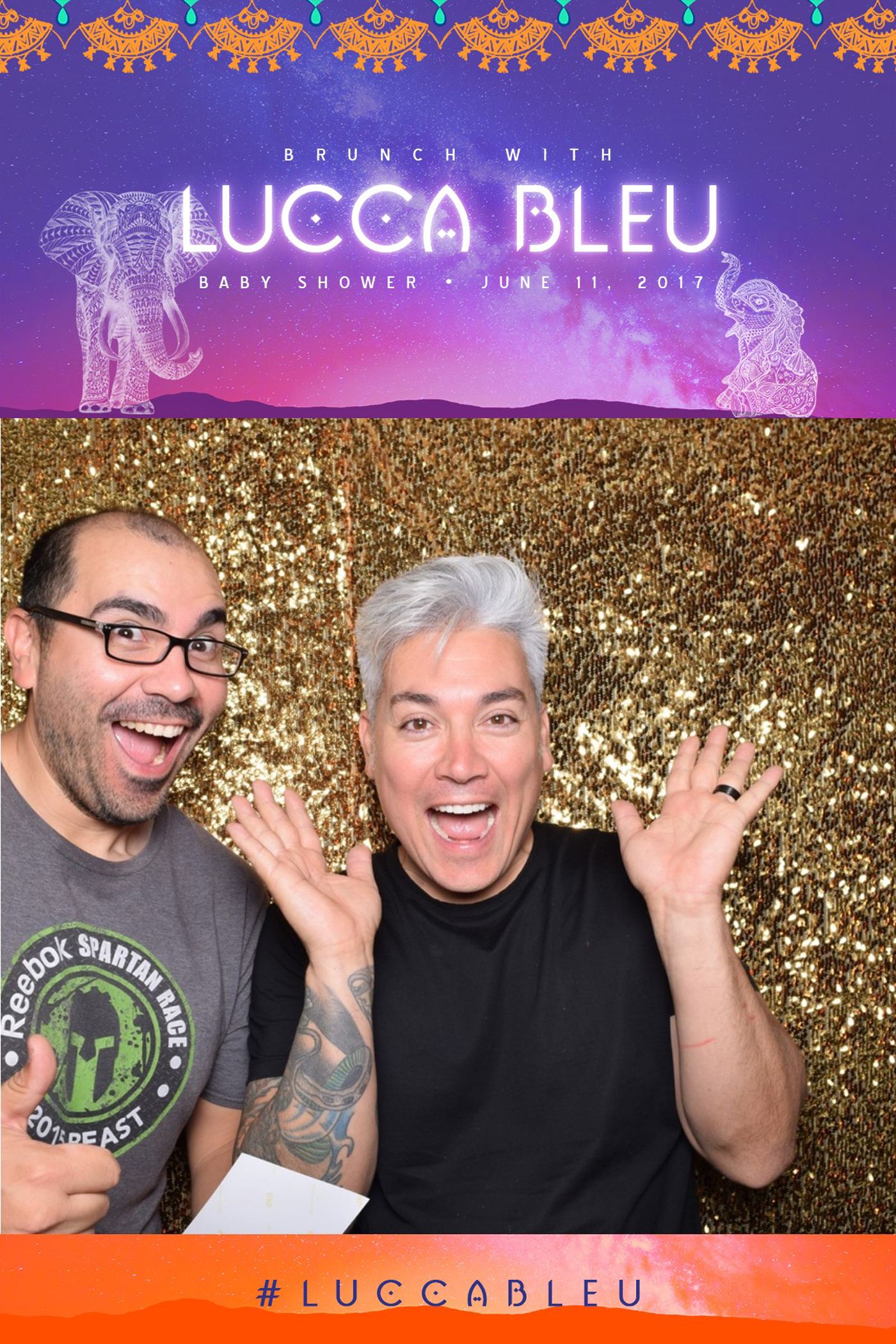 Moroccan Inspired Baby Shower Party DJ Herick in the photobooth.jpg