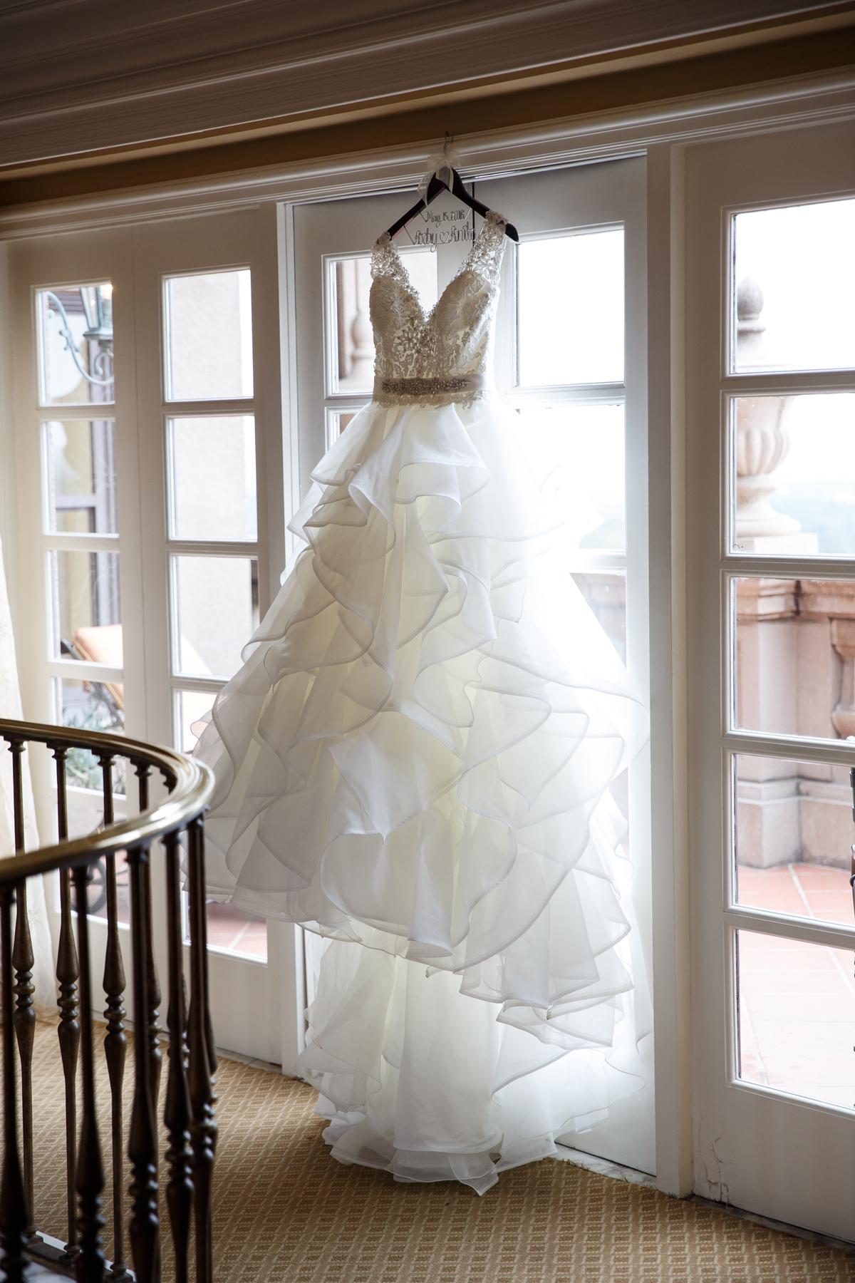 Elegant Pasadena Wedding to Make You Swoon Bride's Dress.jpg