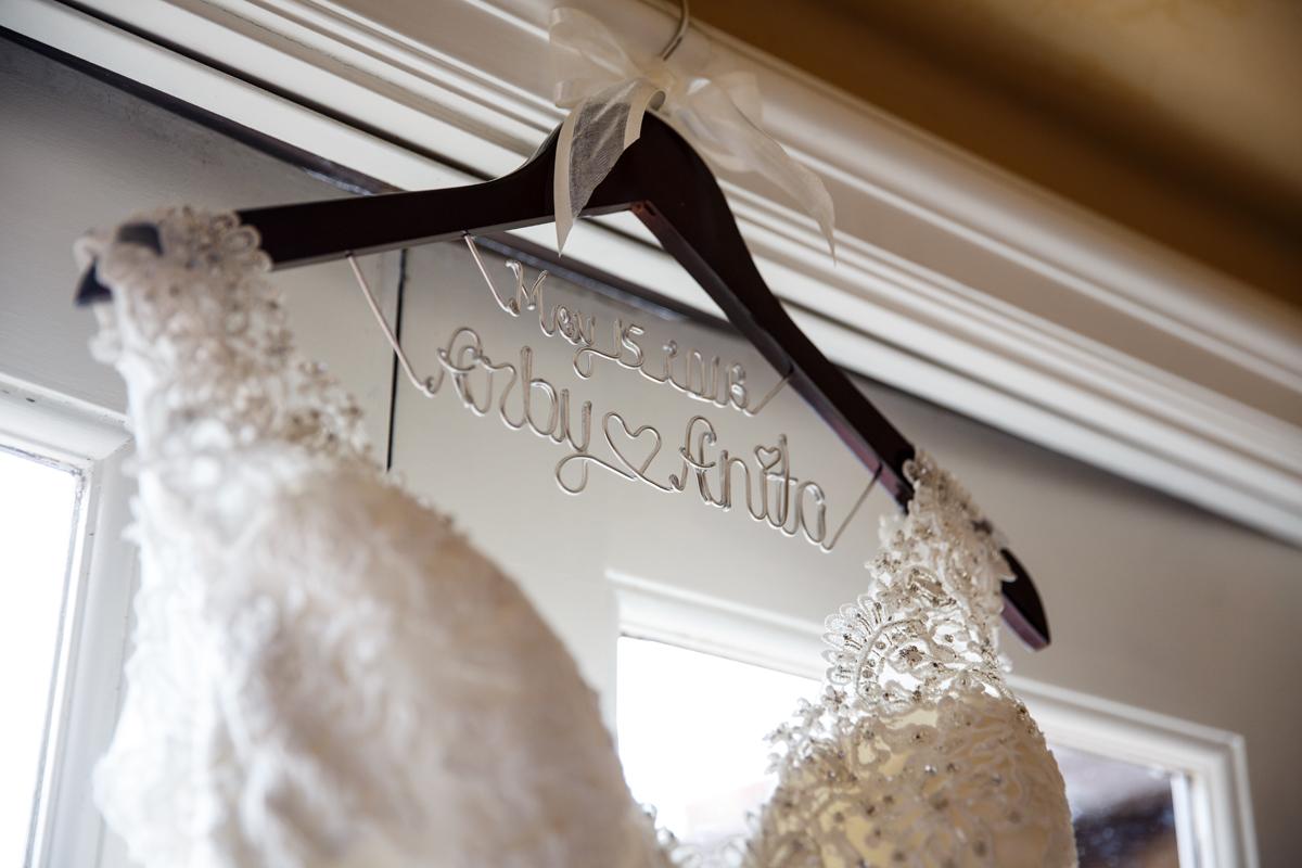 Elegant Pasadena Wedding to Make You Swoon custom hanger.jpg