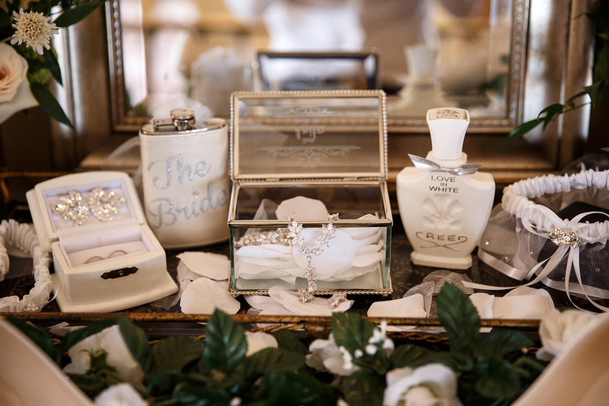 Elegant Pasadena Wedding to Make You Swoon gorgeous crystal jewelry.jpg