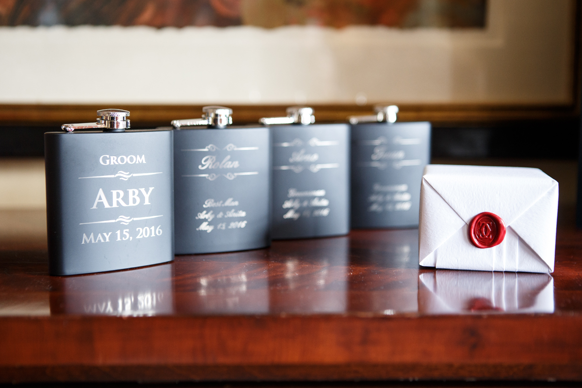 Elegant Pasadena Wedding to Make You Swoon groomsmen gifts.jpg