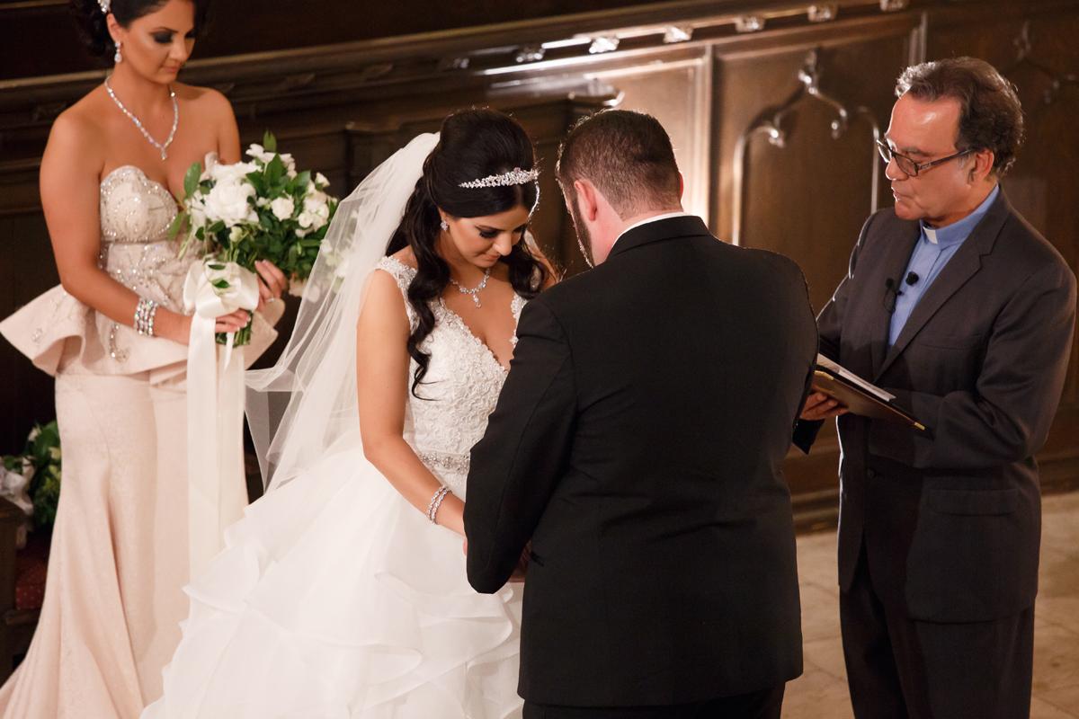 Elegant Pasadena Wedding to Make You Swoon bride and groom saying vows.jpg