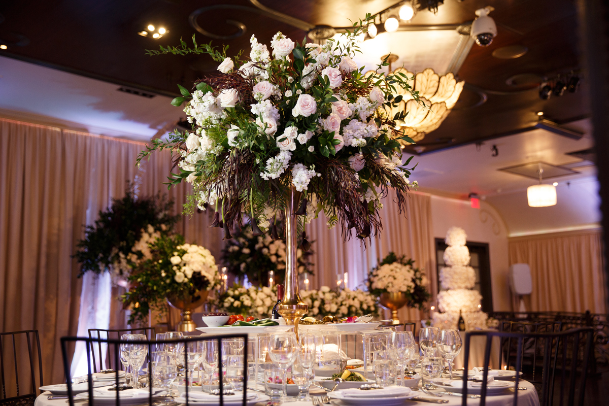 Elegant Pasadena Wedding to Make You Swoon floral centerpieces.jpg