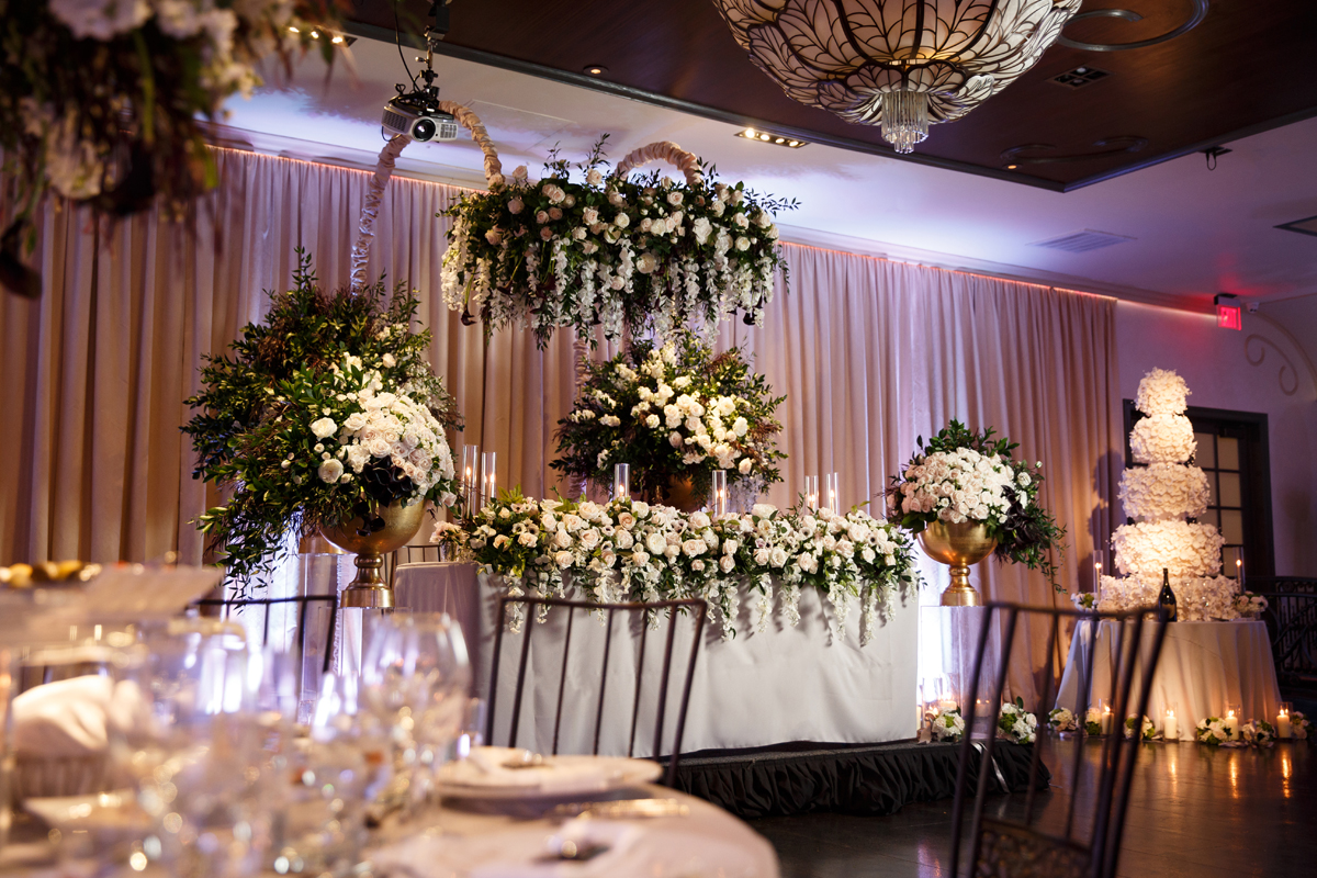 Elegant Pasadena Wedding to Make You Swoon stunning reception tables.jpg