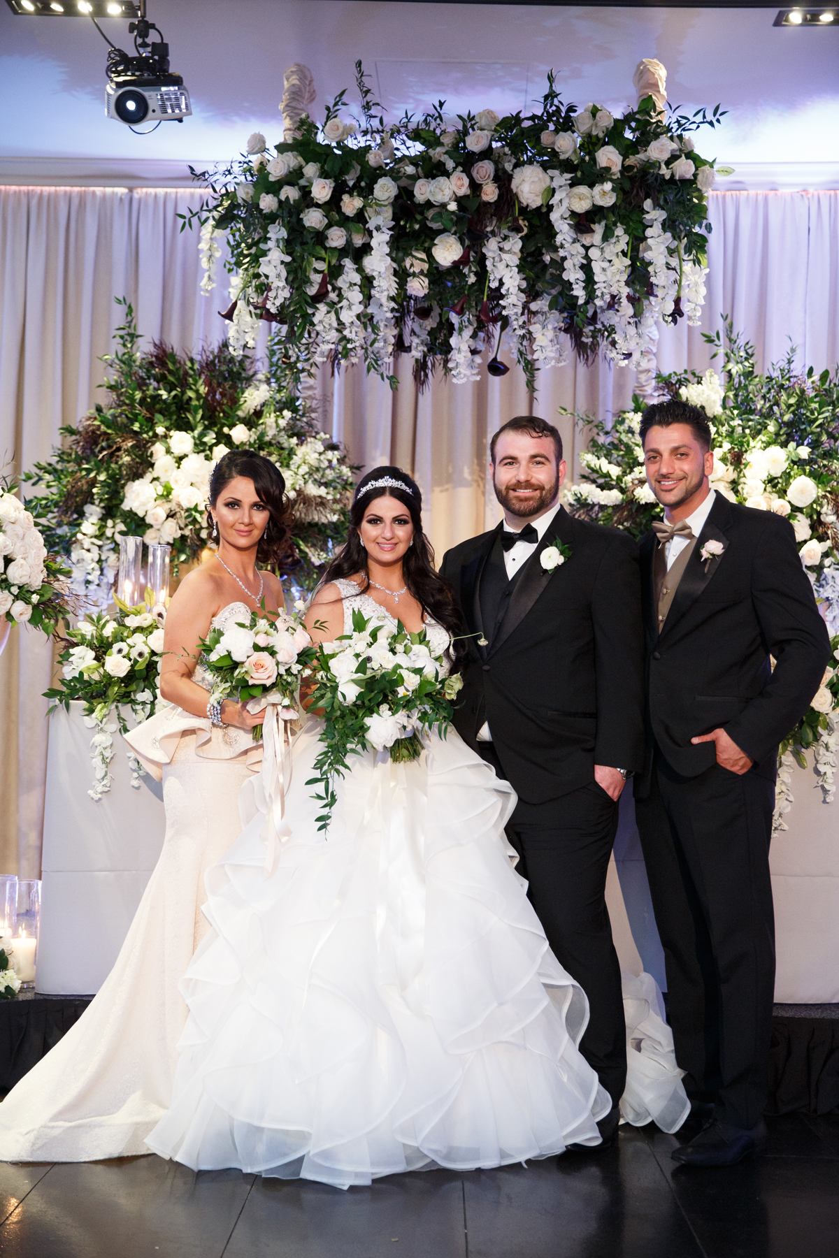 Elegant Pasadena Wedding to Make You Swoon bride and groom with made of honor and best man.jpg