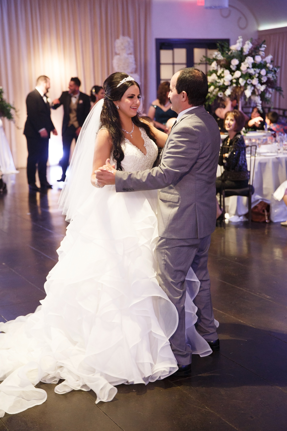 Elegant Pasadena Wedding to Make You Swoon bride and father dance.jpg