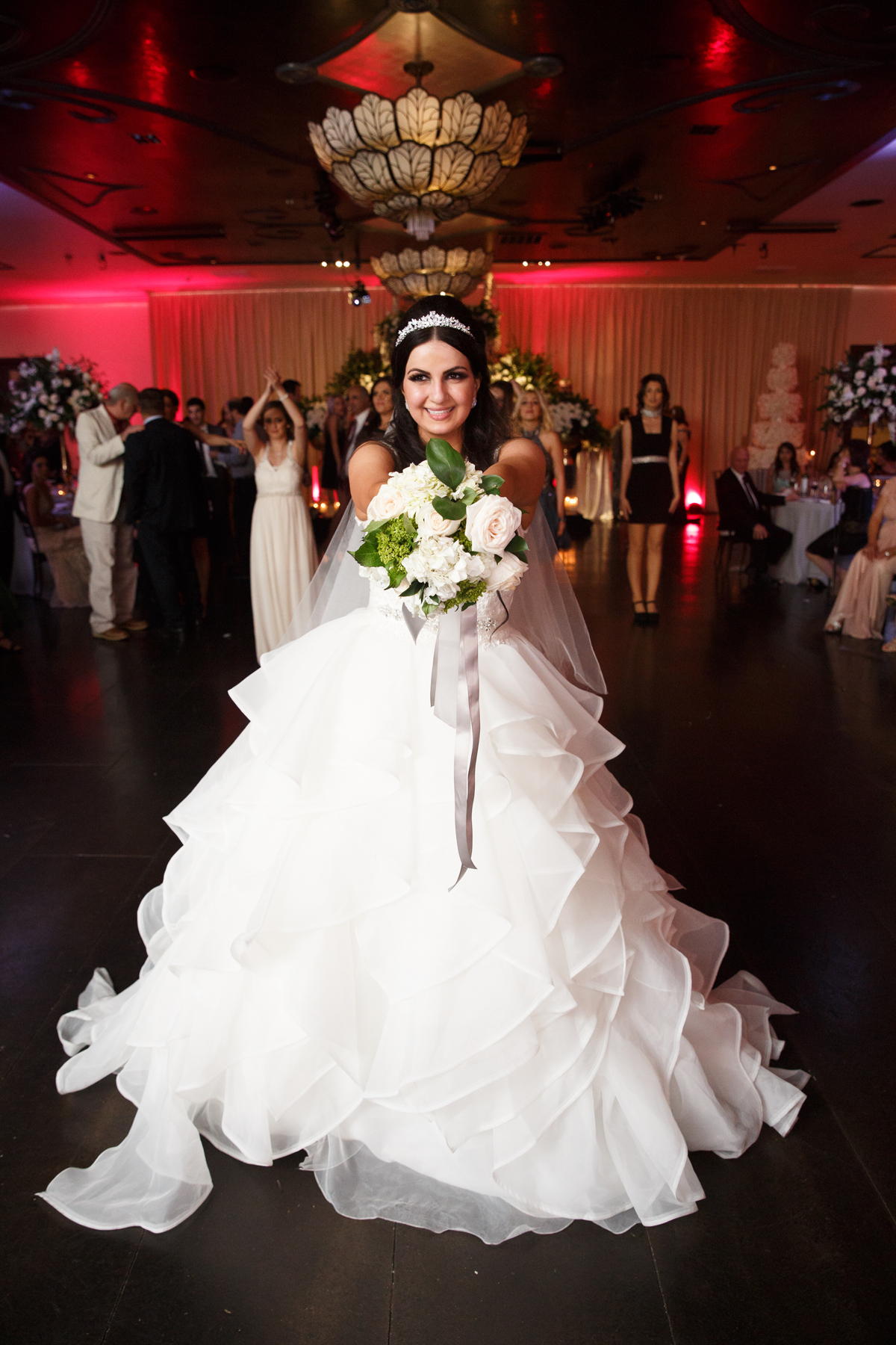 Elegant Pasadena Wedding to Make You Swoon bouquet toss.jpg
