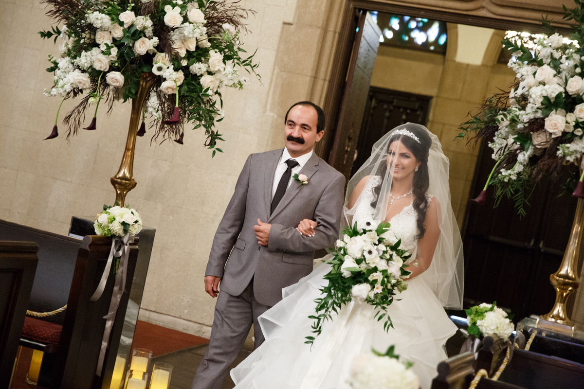 Elegant Pasadena Wedding to Make You Swoon father walking bride down the aisle.jpg