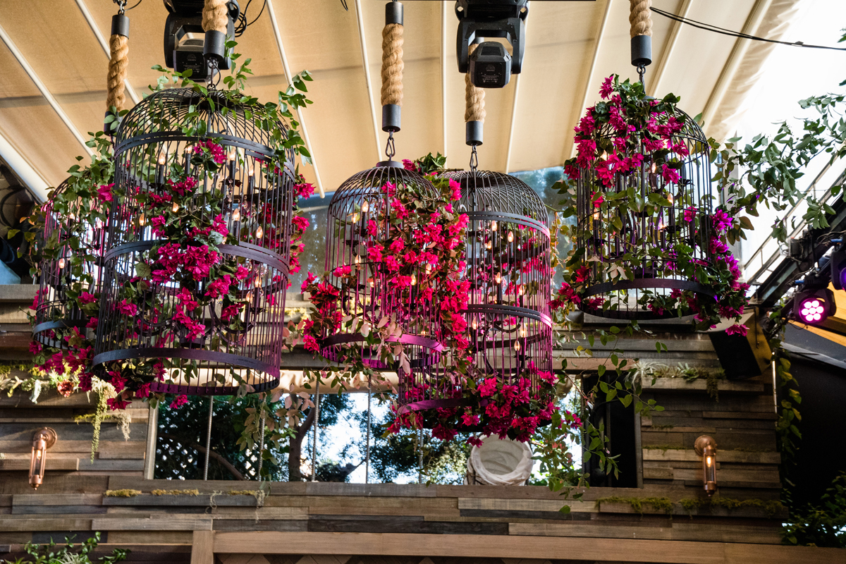 PrettyLittleThing PLT X Olivia Culpo Collection  Celebrity Launch Party giant birdcages filled with flowers.jpg