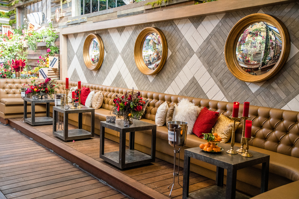 PrettyLittleThing PLT X Olivia Culpo Collection  Celebrity Launch Party seating area inside The Liaison.jpg