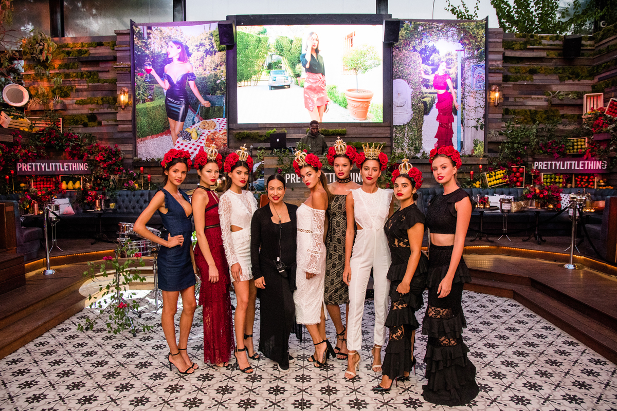 PrettyLittleThing PLT X Olivia Culpo Collection  Celebrity Launch Party models and Loriann.jpg