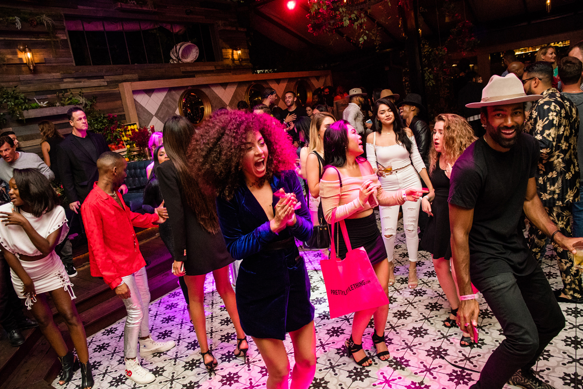 PrettyLittleThing PLT X Olivia Culpo Collection  Celebrity Launch Party guests dancing.jpg