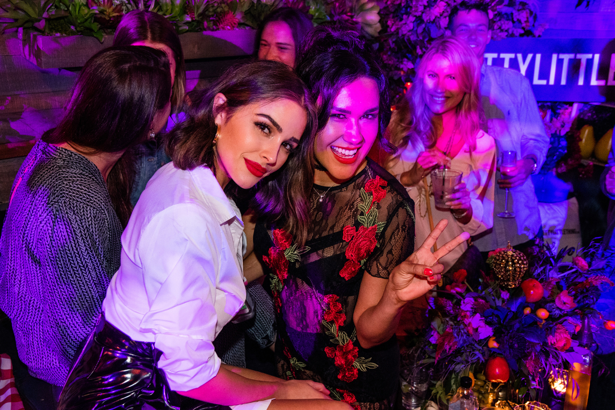 PrettyLittleThing PLT X Olivia Culpo Collection  Celebrity Launch Party Olivia and female drummer.jpg