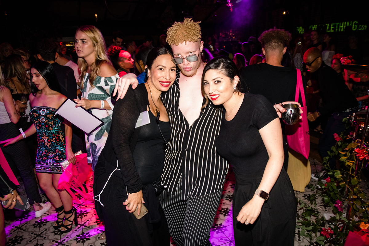PrettyLittleThing PLT X Olivia Culpo Collection  Celebrity Launch Party Shaun Ross with Loriann.jpg
