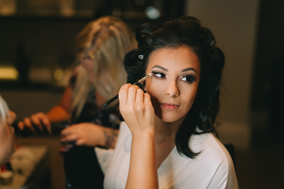 Breathtaking Contemporary Jewel Toned Fall Posh Wedding bride getting ready.jpg