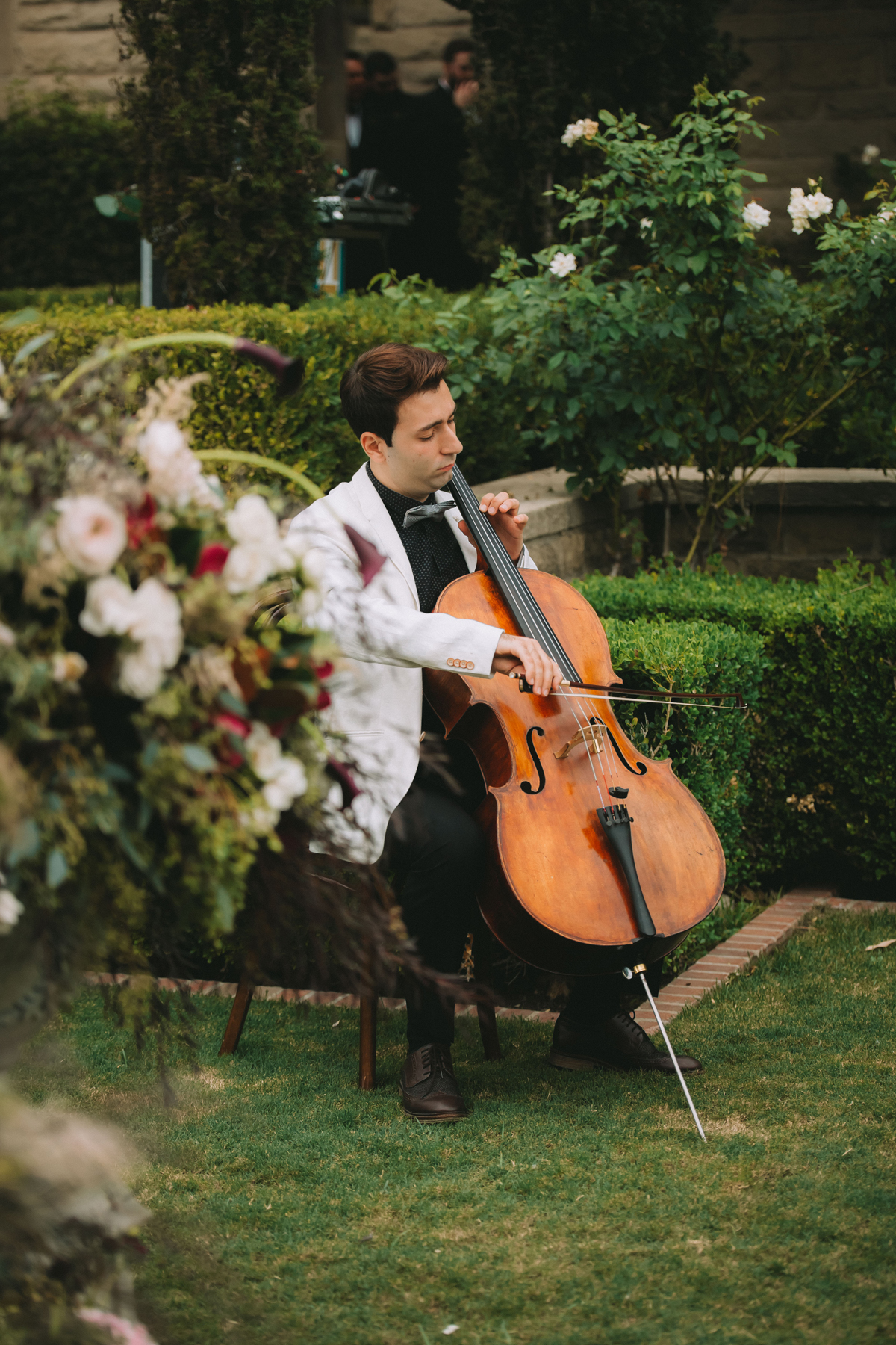 Breathtaking Contemporary Jewel Toned Fall Posh Wedding cello player.jpg
