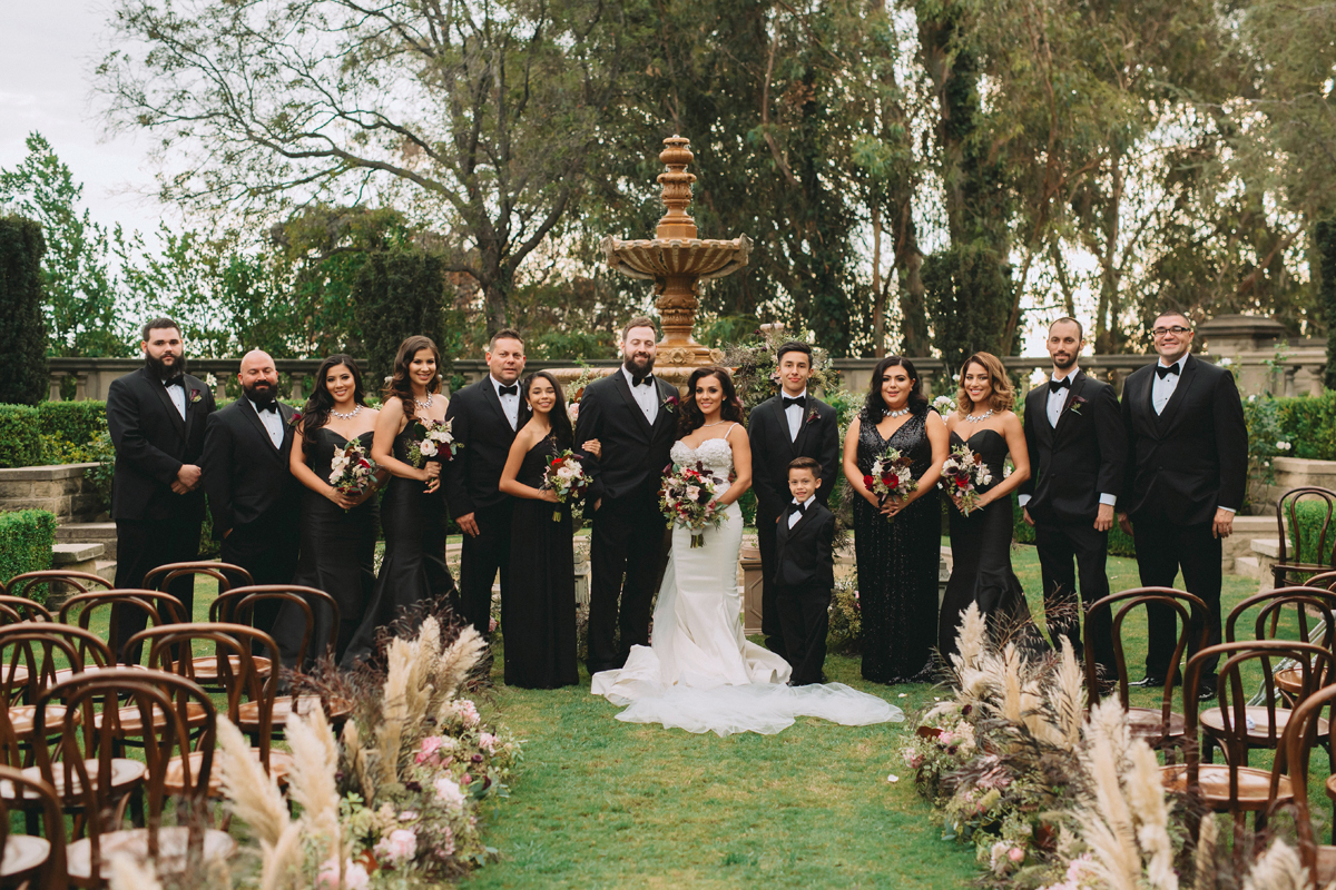 Breathtaking Contemporary Jewel Toned Fall Posh Wedding bridal party.jpg