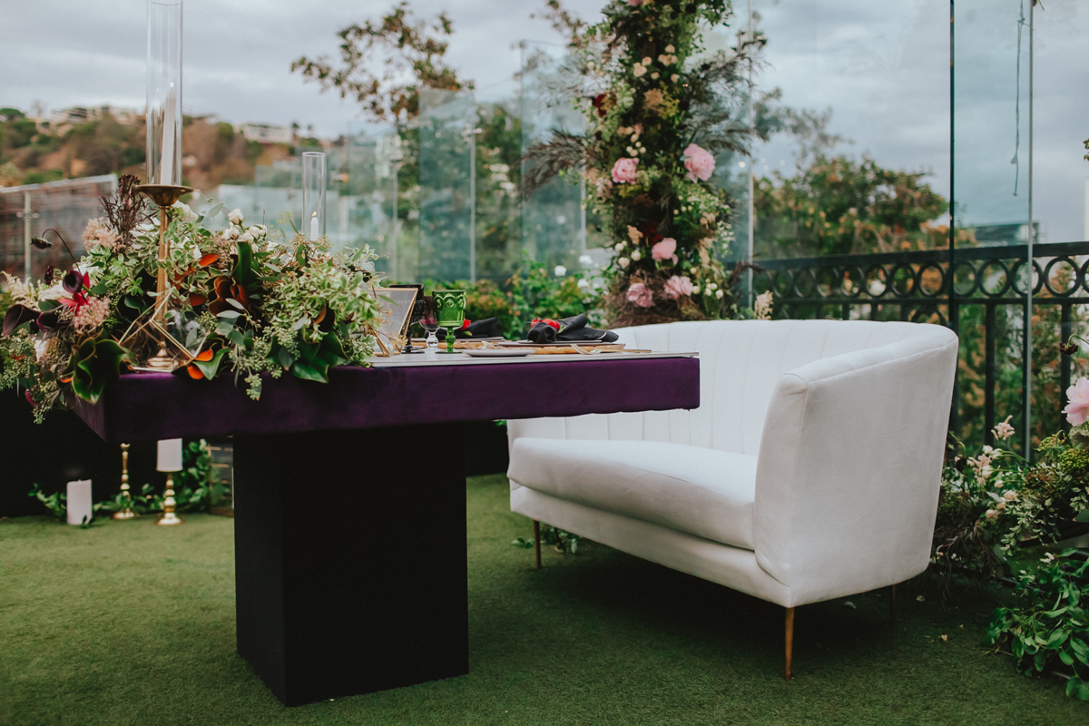 Breathtaking Contemporary Jewel Toned Fall Posh Wedding sweetheart table.jpg