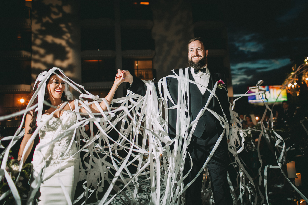 Breathtaking Contemporary Jewel Toned Fall Posh Wedding covered in streamers.jpg