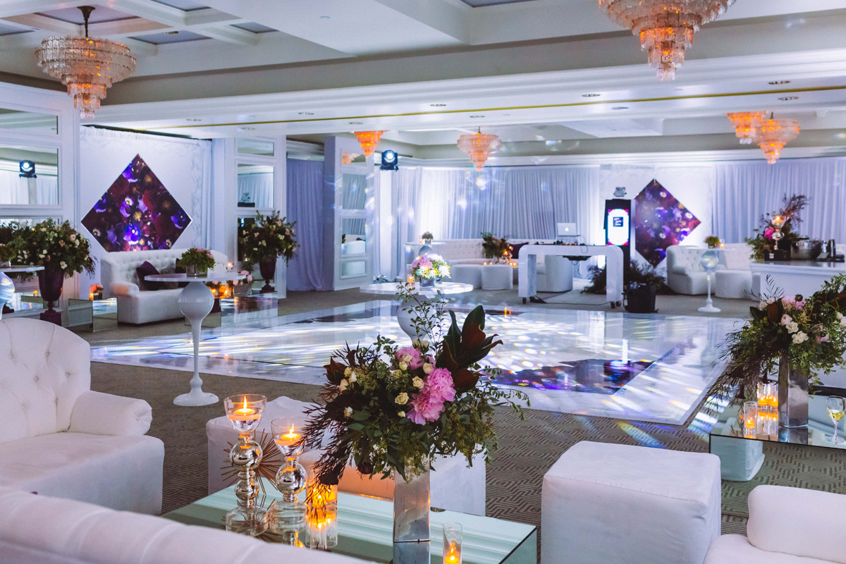 Breathtaking Contemporary Jewel Toned Fall Posh Wedding dance floor.jpg