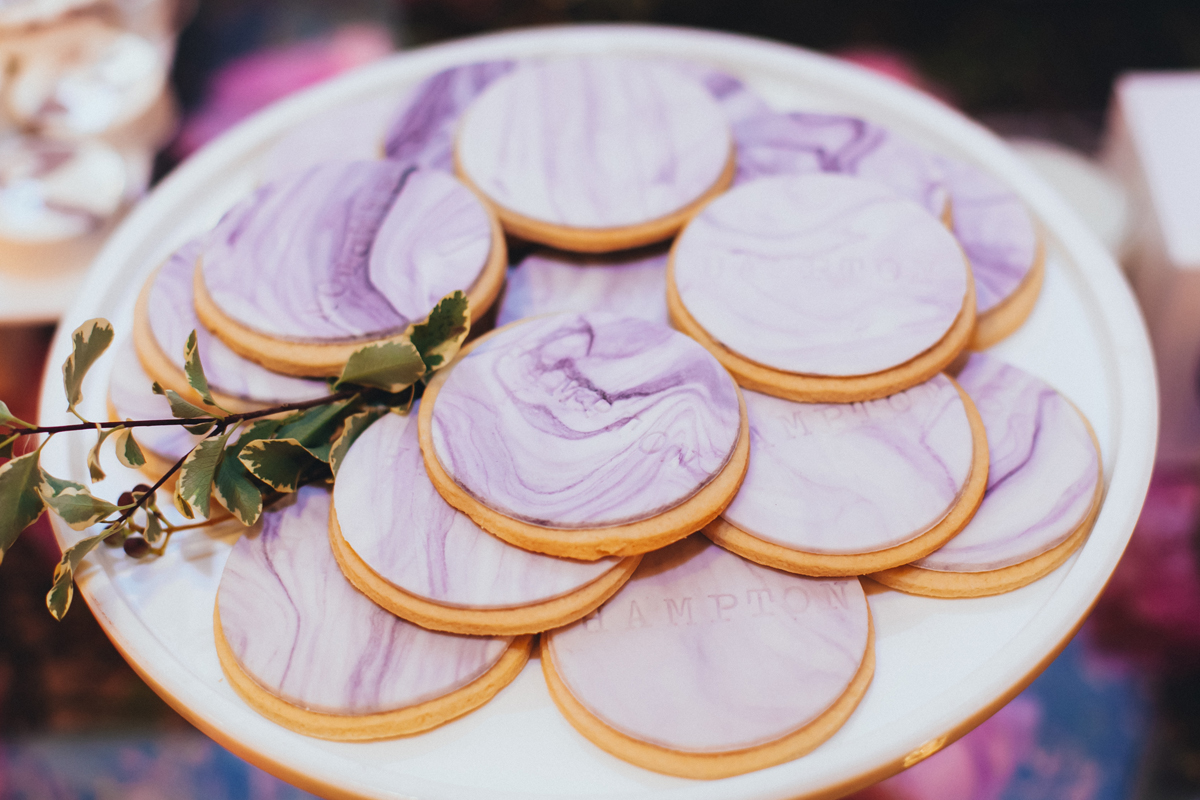 Breathtaking Contemporary Jewel Toned Fall Posh Wedding custom marble cookies.jpg