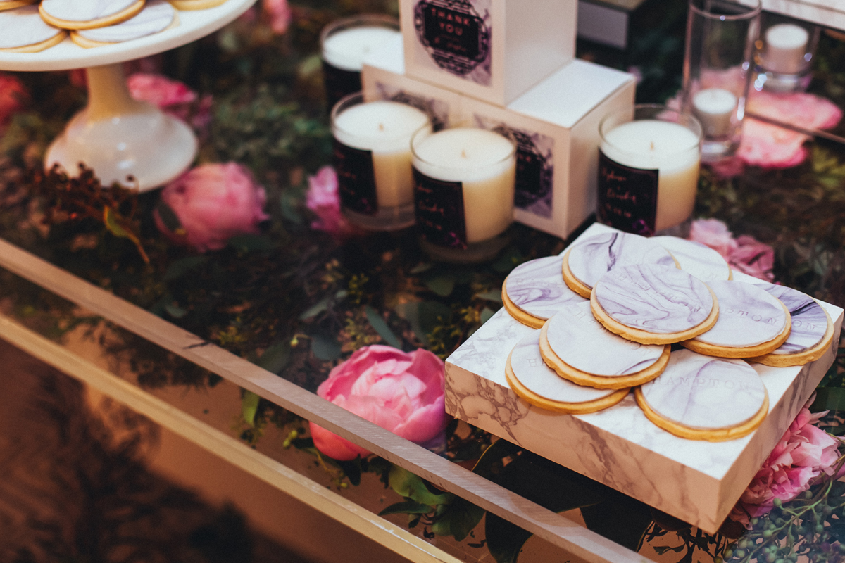 Breathtaking Contemporary Jewel Toned Fall Posh Wedding marble cookies.jpg