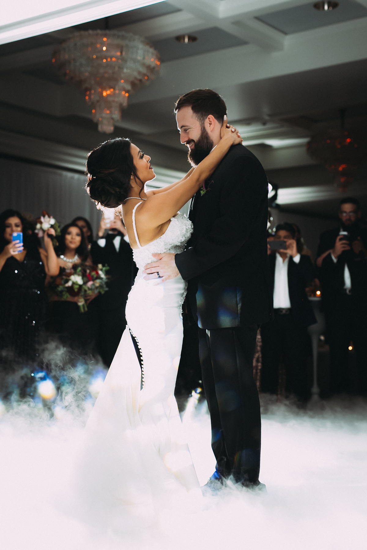 Breathtaking Contemporary Jewel Toned Fall Posh Wedding first dance.jpg
