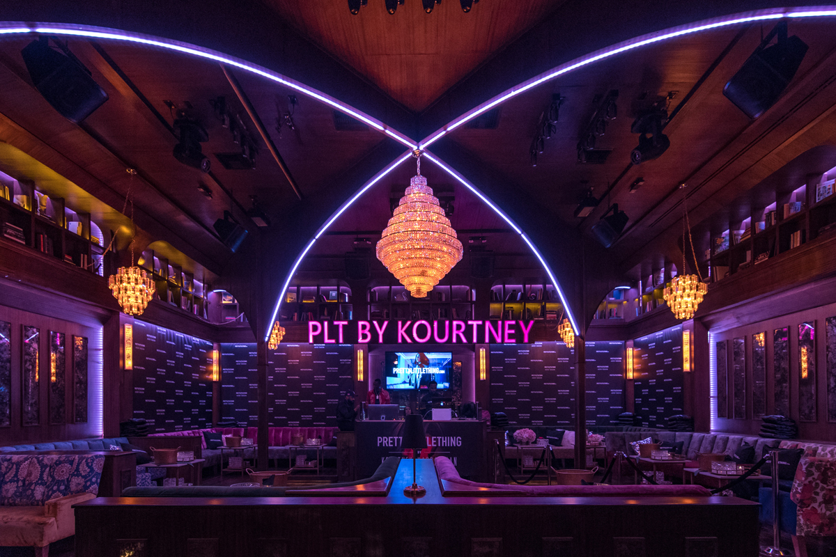 PrettyLittleThing PLT X Kourtney Kardashian Collection Celebrity Launch Party main seating area.jpg
