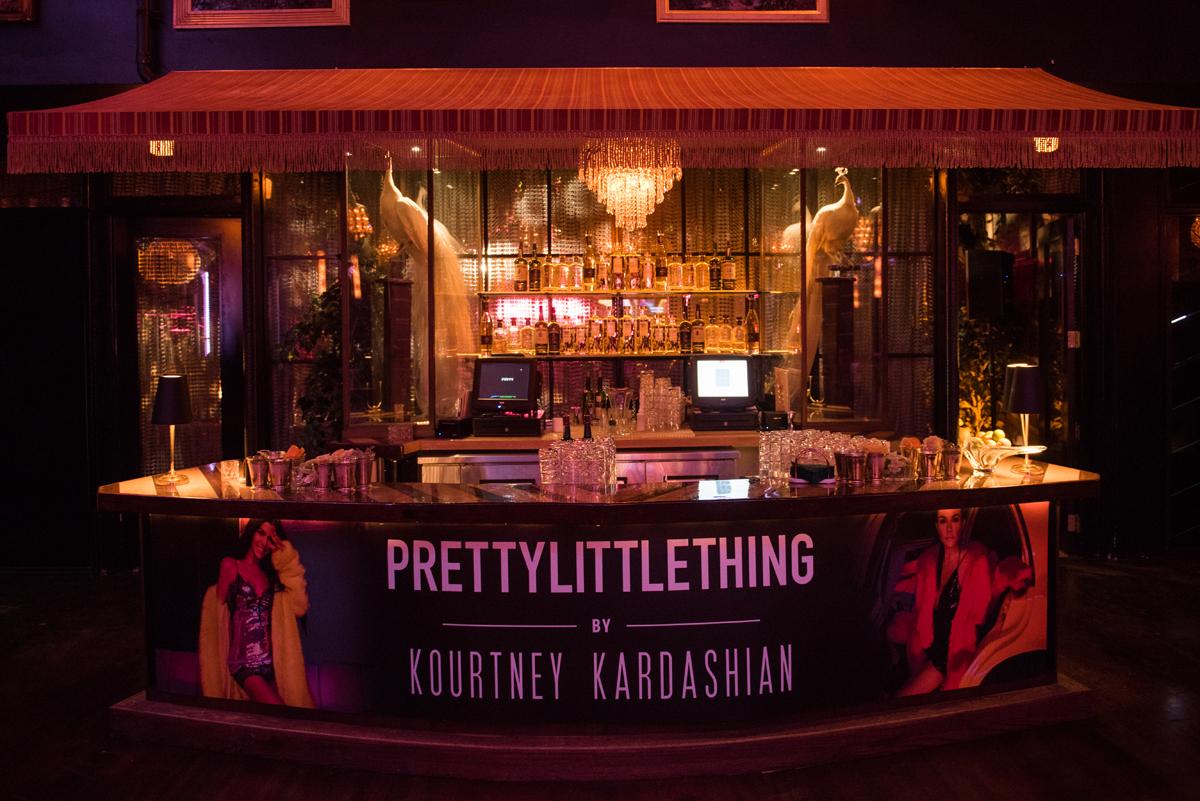PrettyLittleThing PLT X Kourtney Kardashian Collection Celebrity Launch Party main bar.jpg