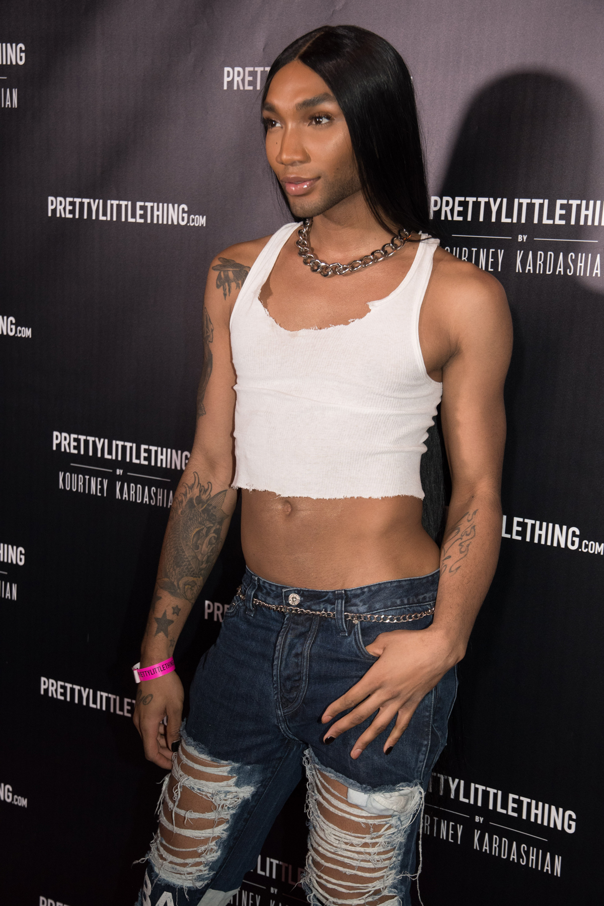 PrettyLittleThing PLT X Kourtney Kardashian Collection Celebrity Launch Party red carpet 5.jpg