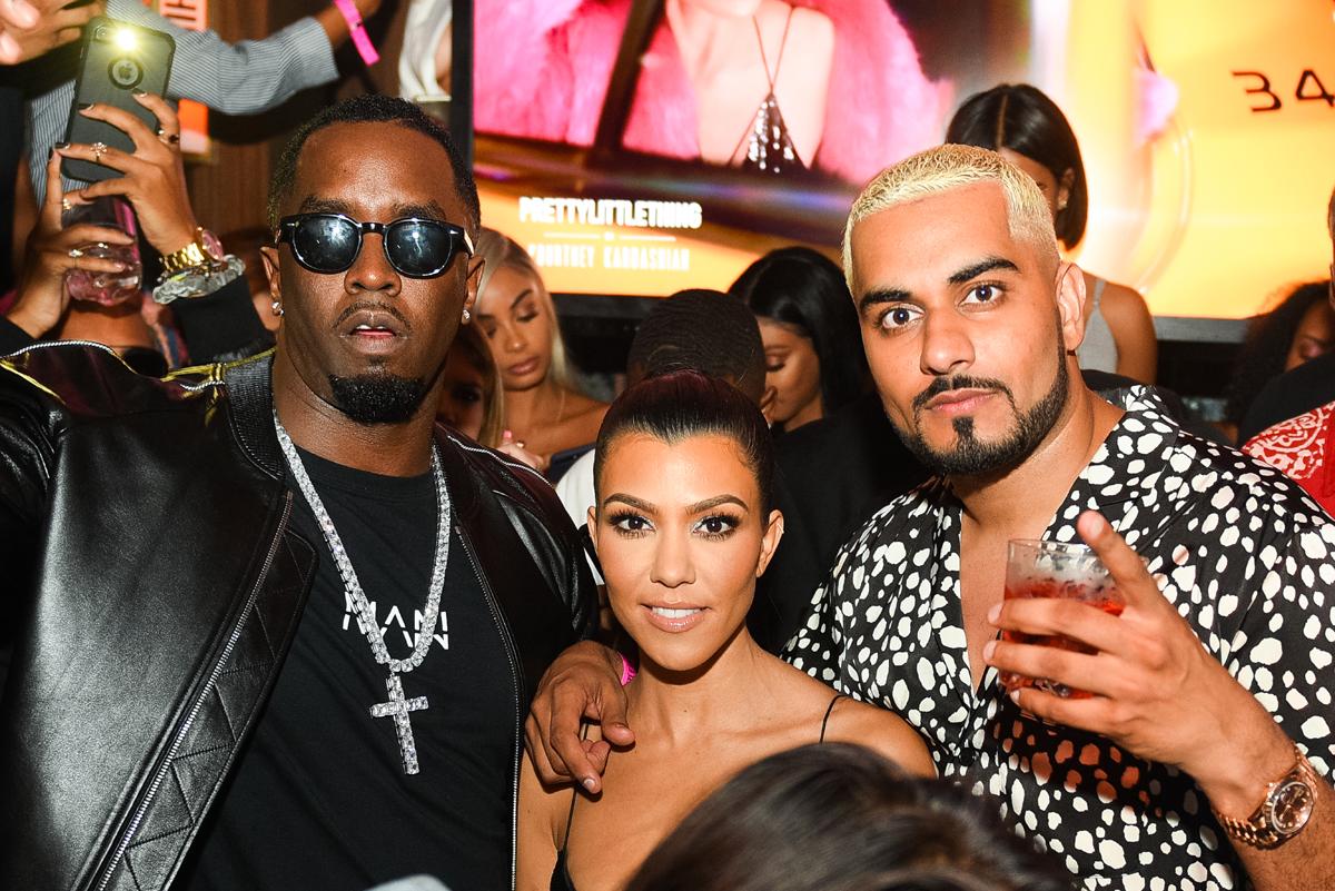 PrettyLittleThing PLT X Kourtney Kardashian Collection Celebrity Launch Party P Diddy Kourtney Umar.jpg