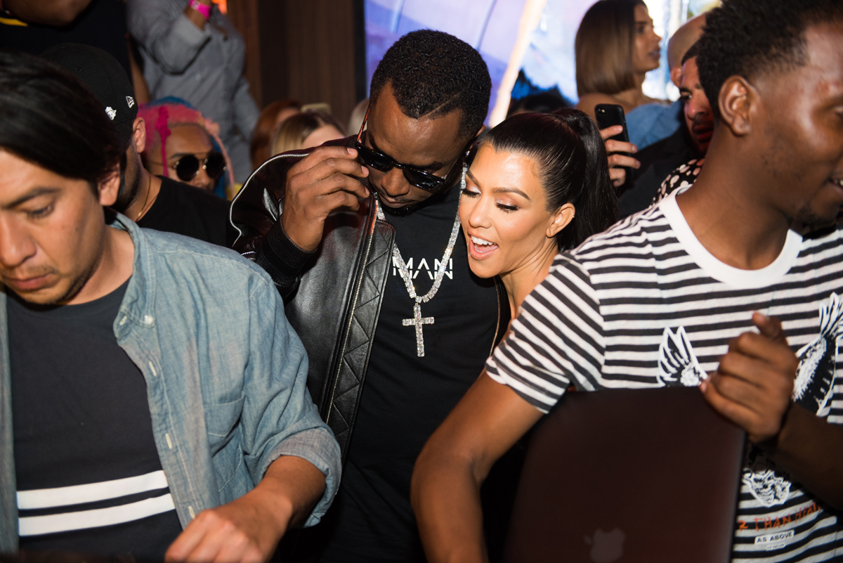 PrettyLittleThing PLT X Kourtney Kardashian Collection Celebrity Launch Party P Diddy and Kourtney.jpg