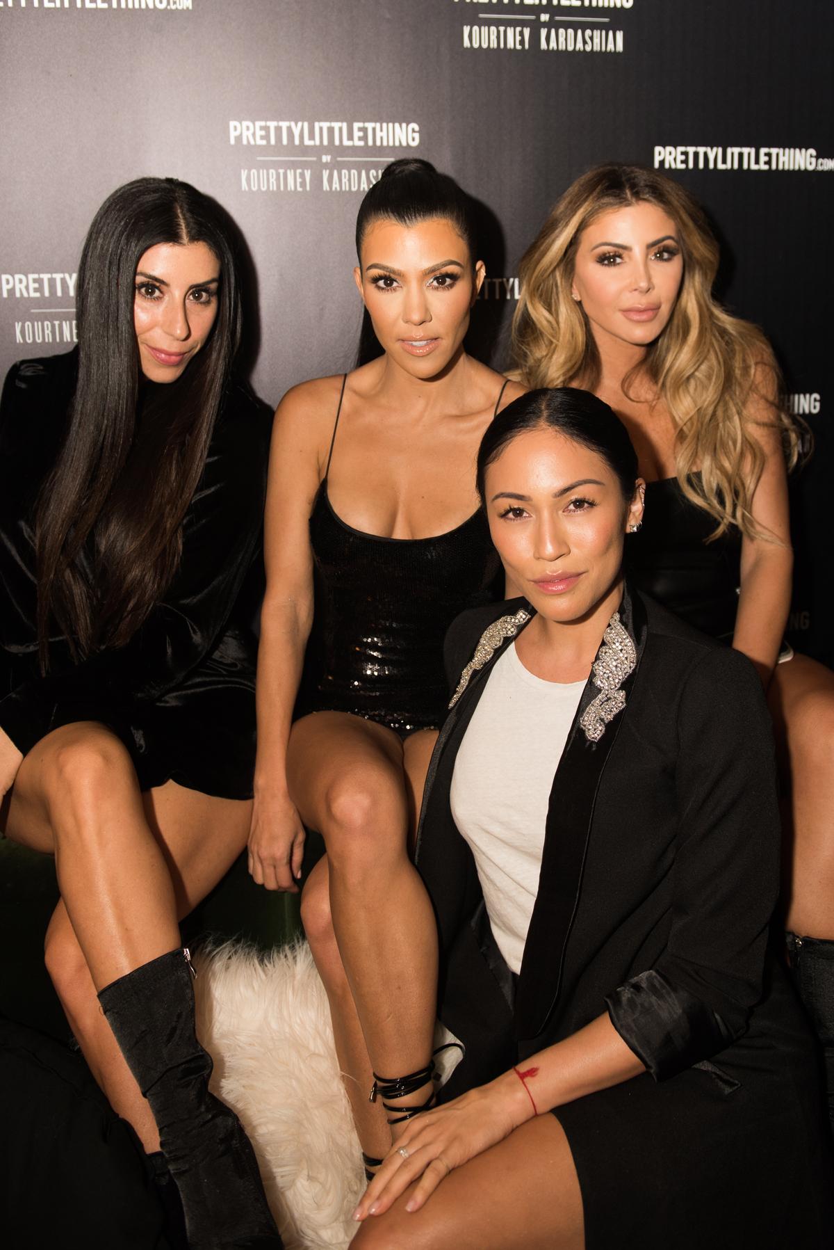 PrettyLittleThing PLT X Kourtney Kardashian Collection Celebrity Launch Party Kourt and her girls.jpg