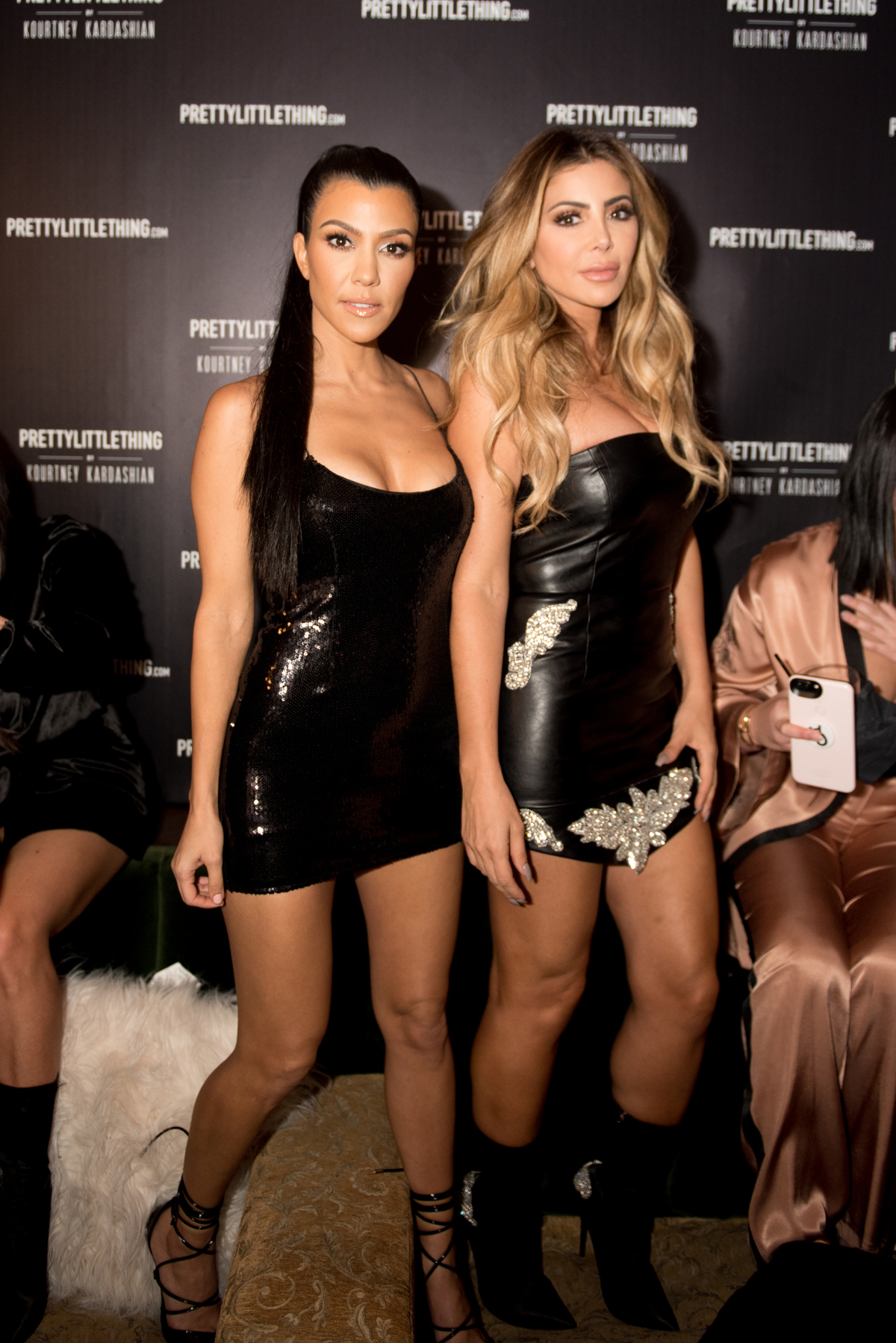 PrettyLittleThing PLT X Kourtney Kardashian Collection Celebrity Launch Party Kourtney and friend.jpg