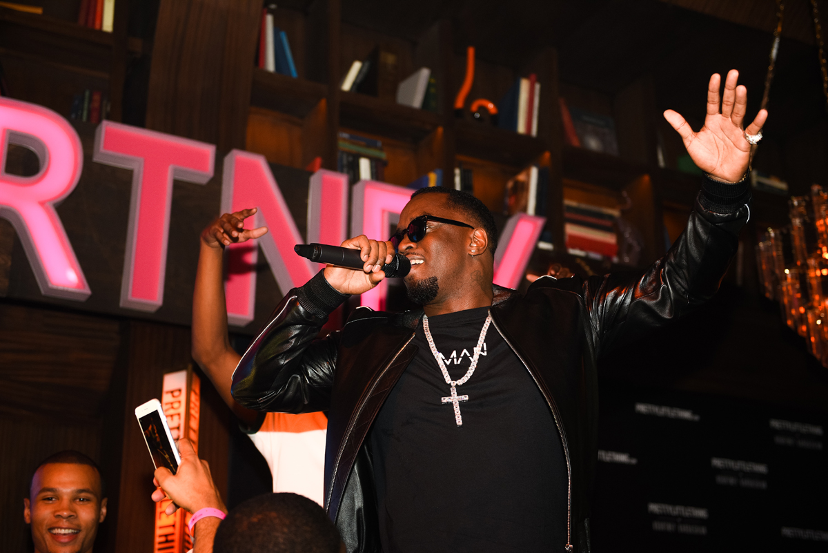 PrettyLittleThing PLT X Kourtney Kardashian Collection Celebrity Launch Party P Diddy performing 3.jpg