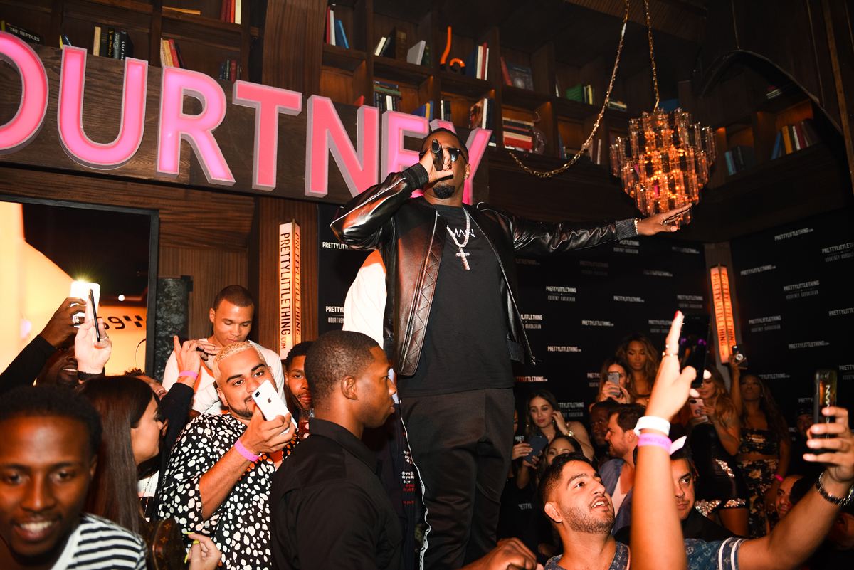 PrettyLittleThing PLT X Kourtney Kardashian Collection Celebrity Launch Party P Diddy performing 2.jpg