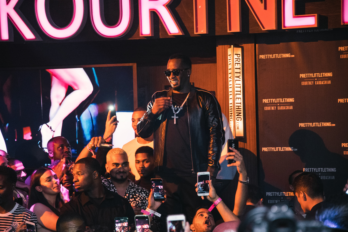 PrettyLittleThing PLT X Kourtney Kardashian Collection Celebrity Launch Party P Diddy performs.jpg