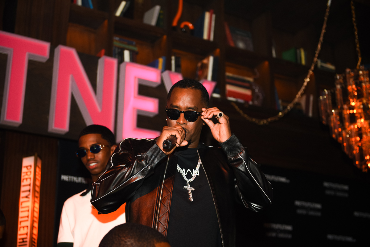 PrettyLittleThing PLT X Kourtney Kardashian Collection Celebrity Launch Party P Diddy performing.jpg