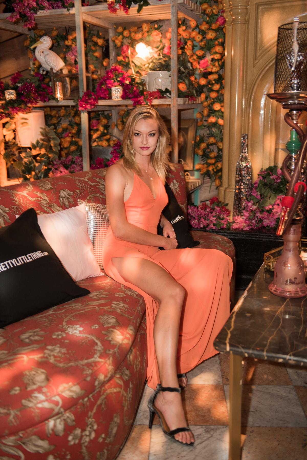 PrettyLittleThing PLT X Kourtney Kardashian Collection Celebrity Launch Party Celeste Gants in party.jpg