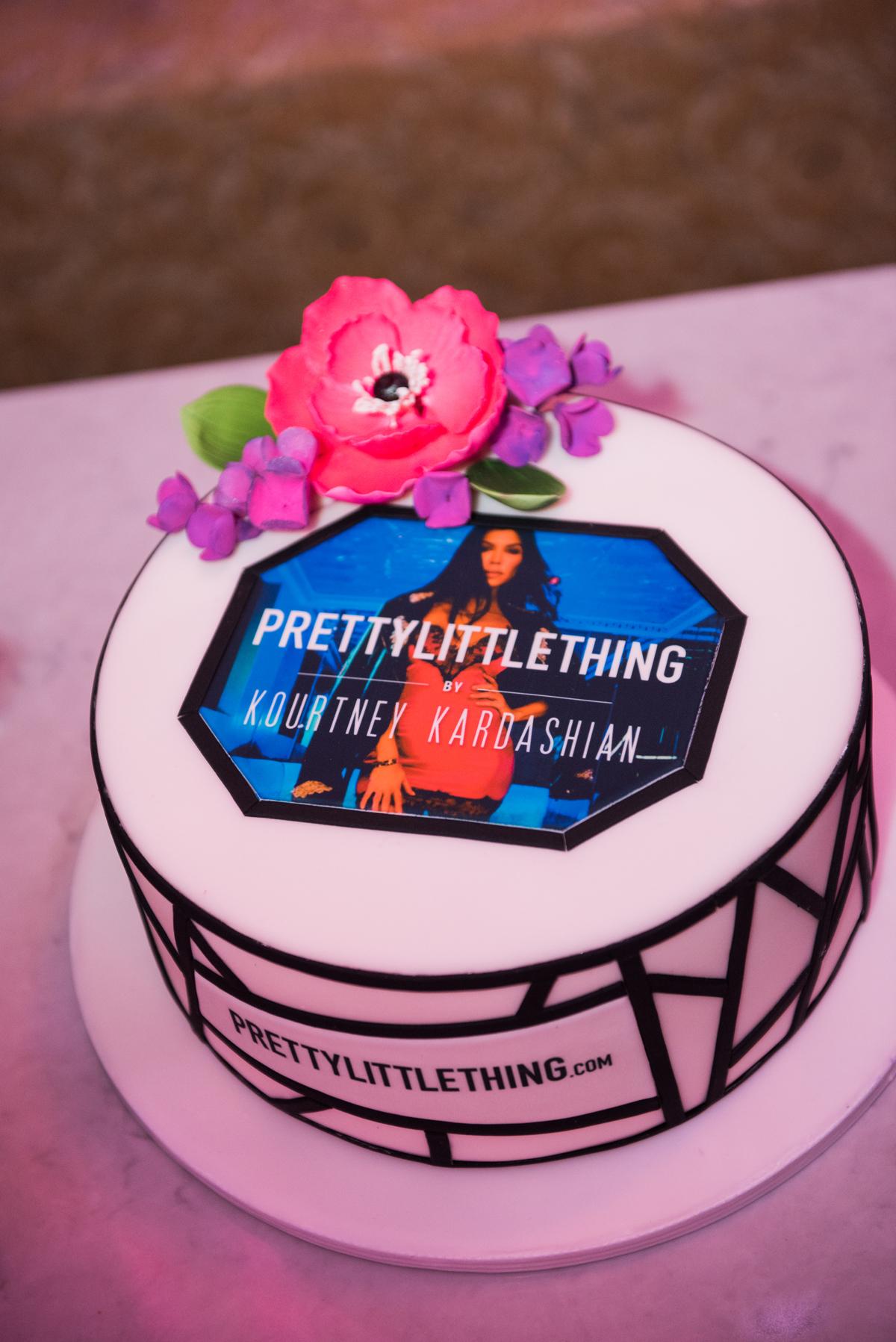 PrettyLittleThing PLT X Kourtney Kardashian Collection Celebrity Launch Party custom cake with edible topper.jpg