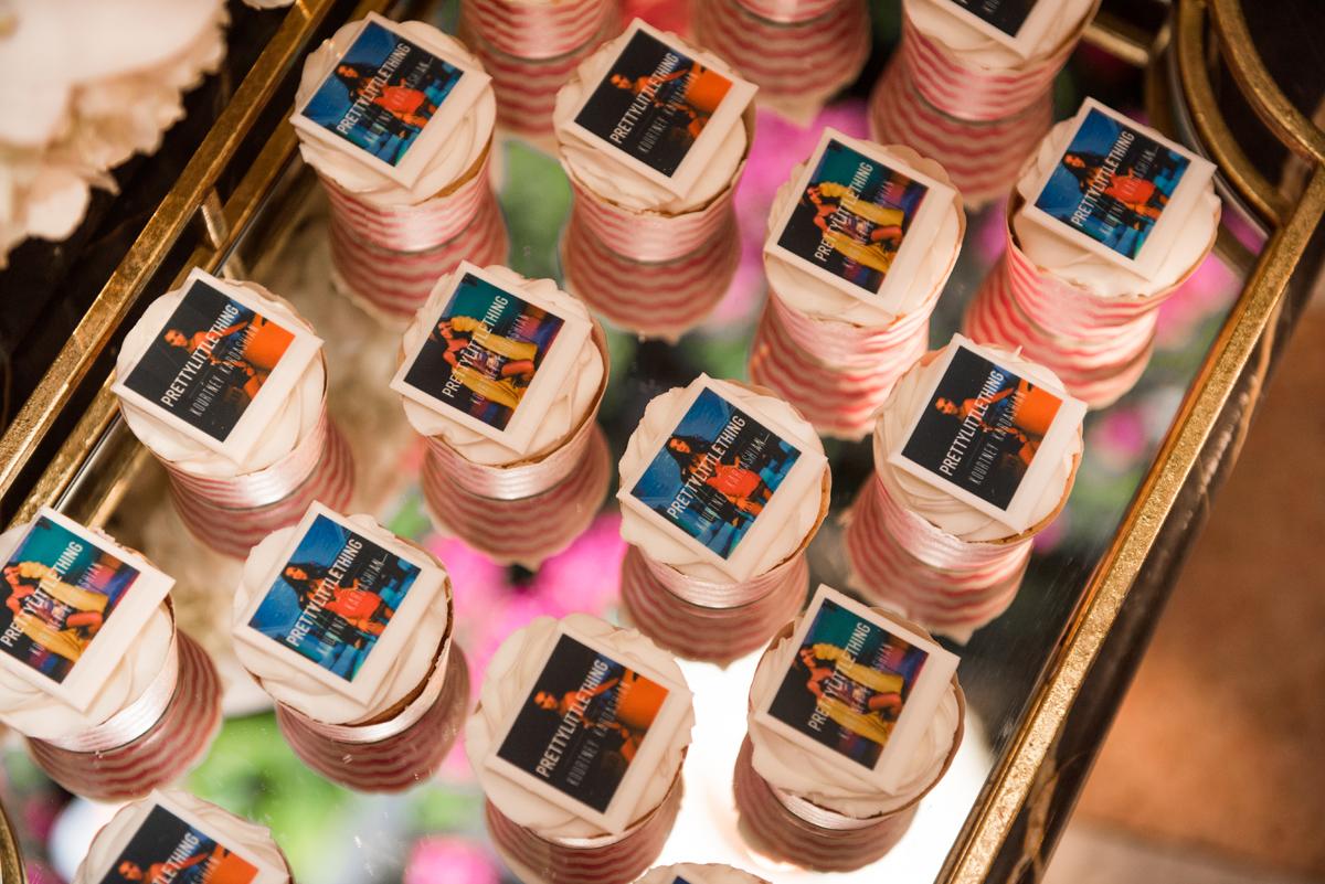 PrettyLittleThing PLT X Kourtney Kardashian Collection Celebrity Launch Party custom edible cupcake toppers.jpg