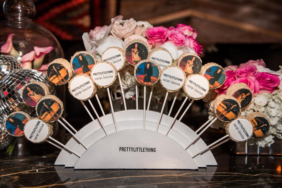 PrettyLittleThing PLT X Kourtney Kardashian Collection Celebrity Launch Party custom rice krispy pops.jpg